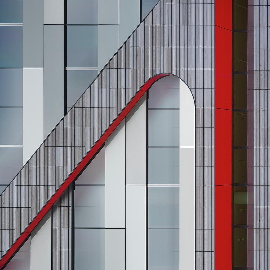 Architecture Photograph - The Red Thread by Greetje Van Son