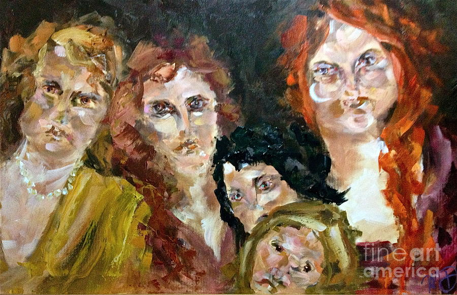 Women Painting - The Redheaded Step Child by Michelle Dommer