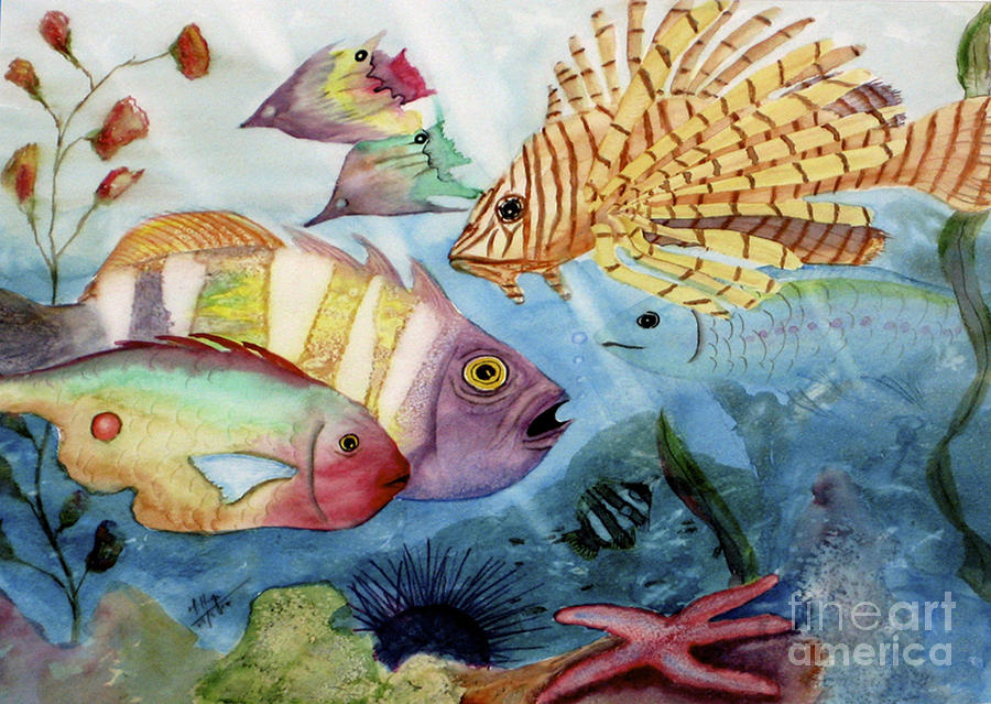Aquatic Painting - The Reef by Mohamed Hirji