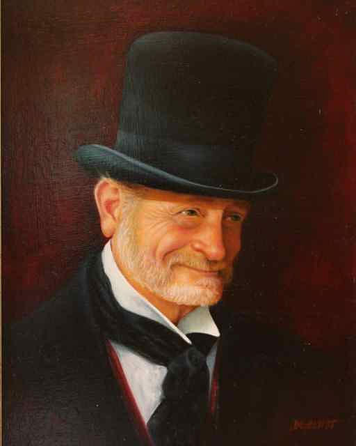 Portrait Painting - The Reenactor by Diana L Hund