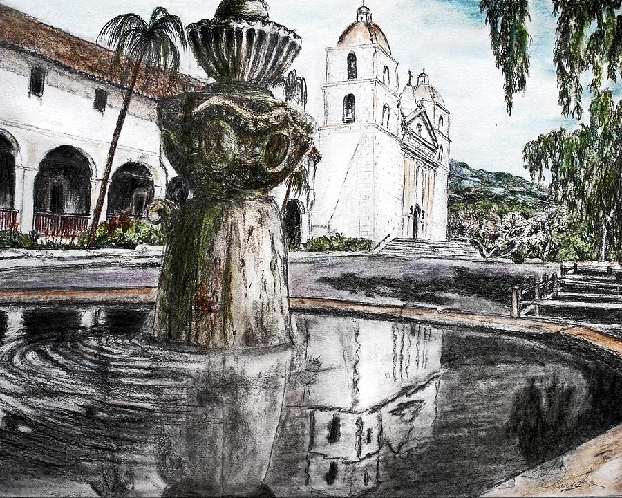 Santa Barbara Painting - The Reflection Of Reality by Danuta Bennett