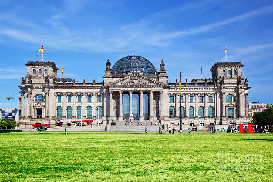 Reichstag Photograph - The Reichstag Building Berlin Germany by Michal Bednarek
