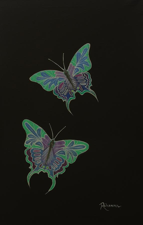 Butterflies Painting - The Releasing Of Souls by Judy M Watts-Rohanna