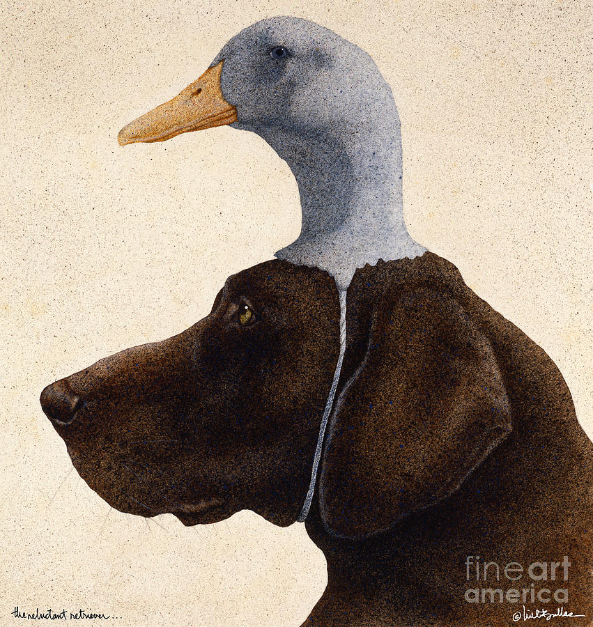 Will Bullas Painting - The Reluctant Retriever... by Will Bullas