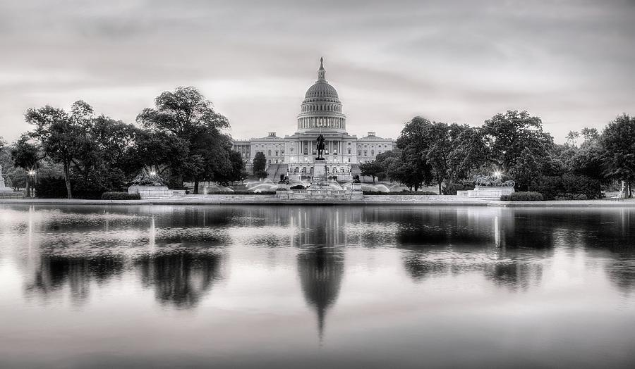 Capital Photograph - The Republic Awakens Bw by JC Findley