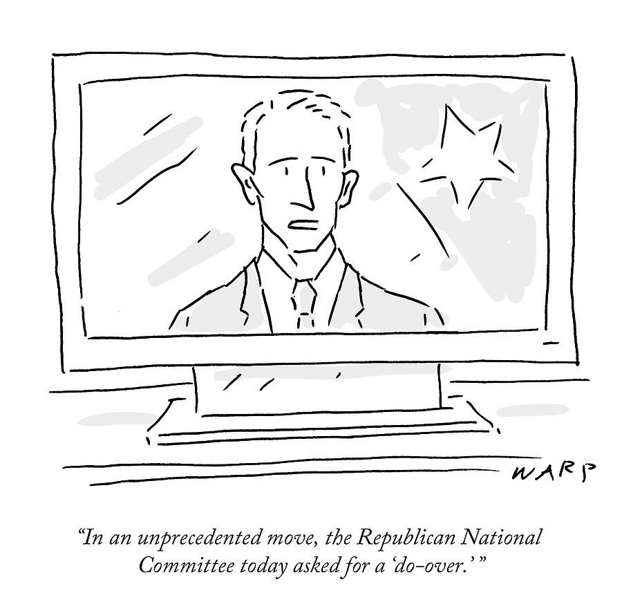 Cartoon Drawing - The Republican National Committee Today Asked by Kim Warp