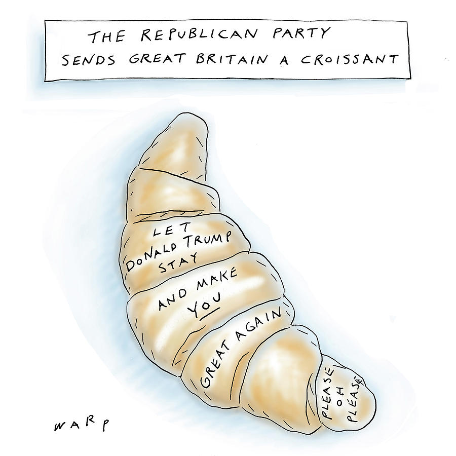 The Republican Party Sends Great Britain Drawing by Kim Warp