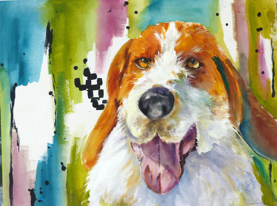 Dog Painting - The Rescue Me Dog by P Maure Bausch