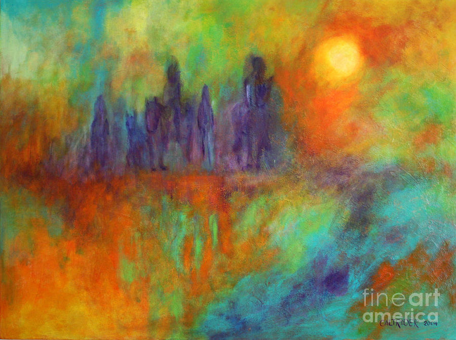 Abstract.painting.acrylic Painting - The Return by Alison Caltrider