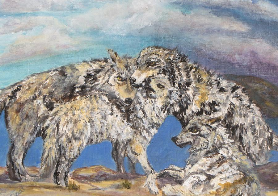 Wolf Painting - The Return by Caroline Owen-Doar
