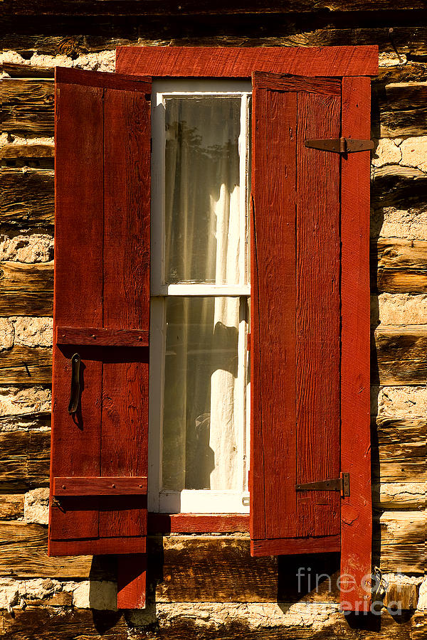 Cabin Photograph - The Reynolds Cabin Window by Catherine Fenner
