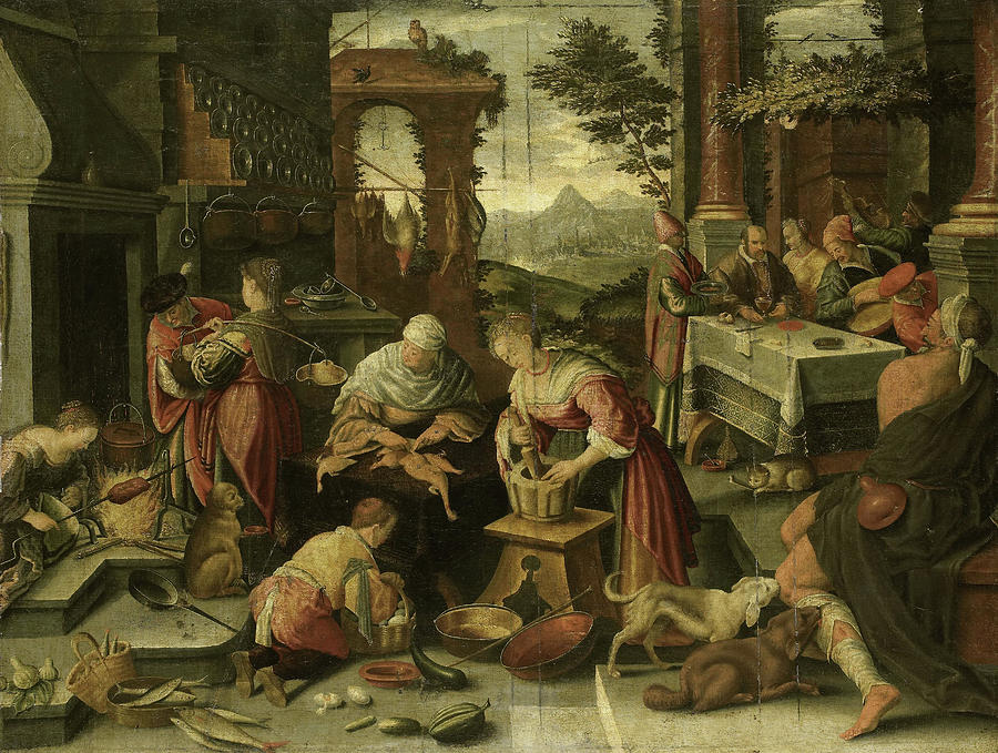 The Rich Man And Poor Lazarus Copy After Jacopo Bassano