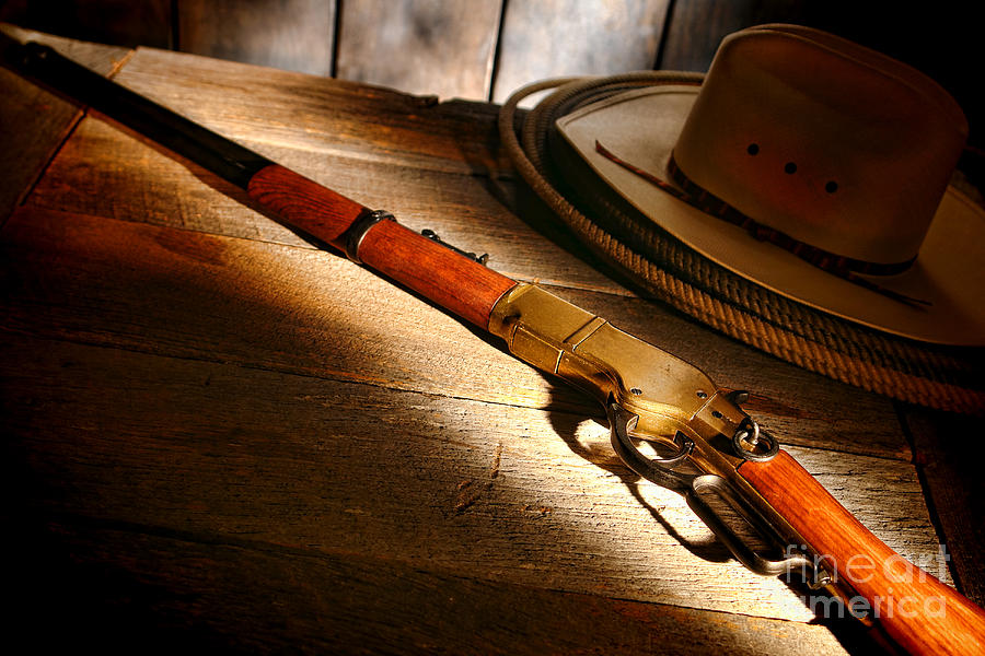 Western Photograph - The Rifle by Olivier Le Queinec