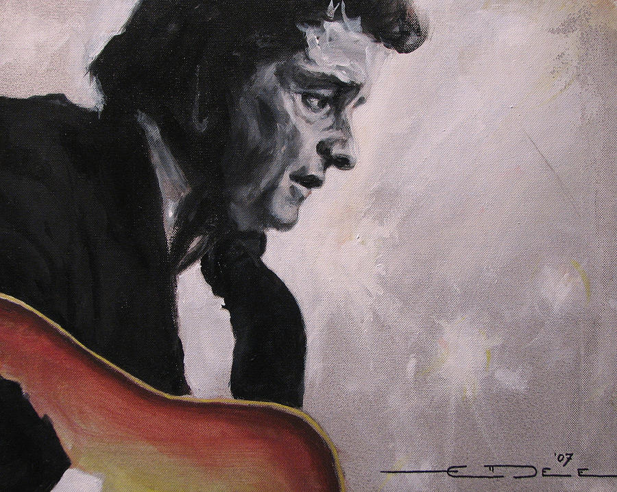 Johnny Cash Painting - The Ring Of Fire by Eric Dee