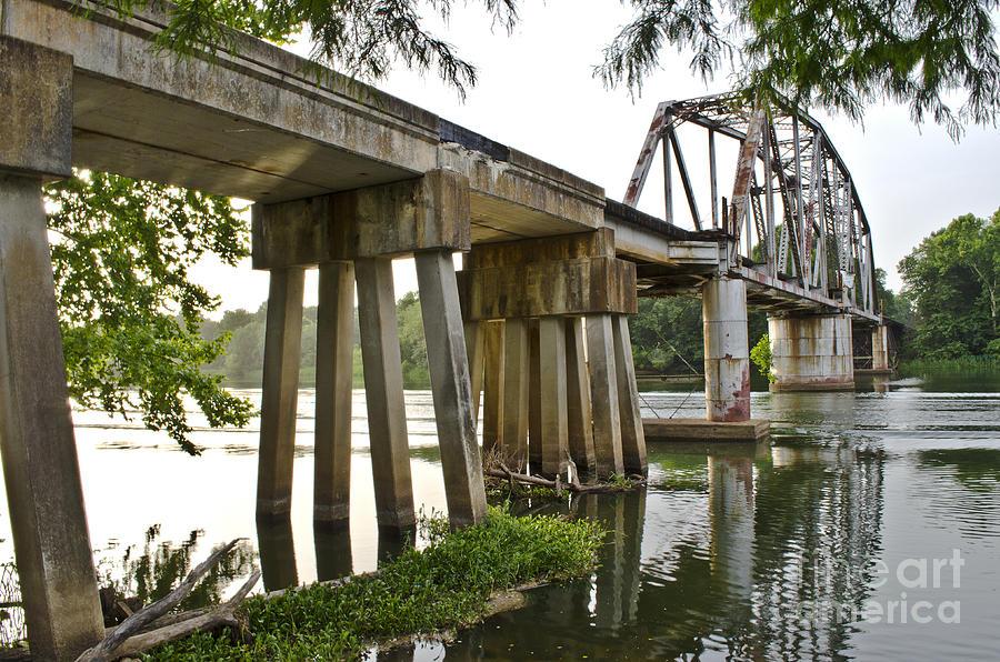 Across Photograph - The River Bridge by Debra Johnson