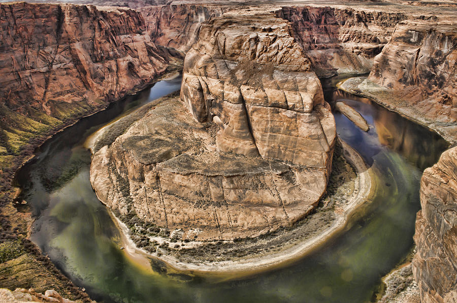 Horseshoe Bend Photograph - The River Did It by Heather Applegate