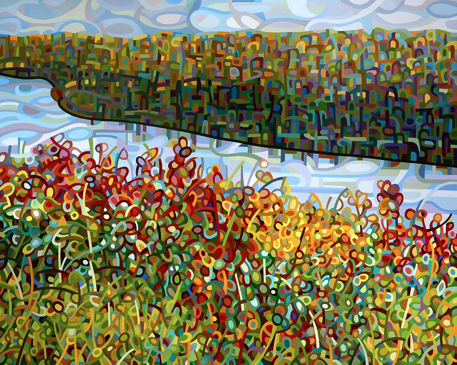 Landscape Painting - The River by Mandy Budan