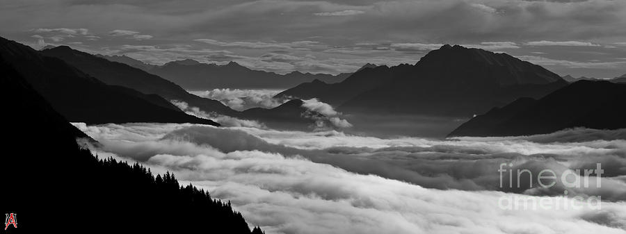 Bn Photograph - The River Of Clouds by Marco Affini