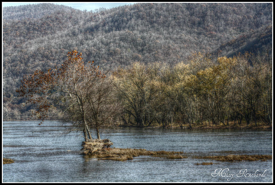 New River Photograph - The River Runs Through It by Missy Richards