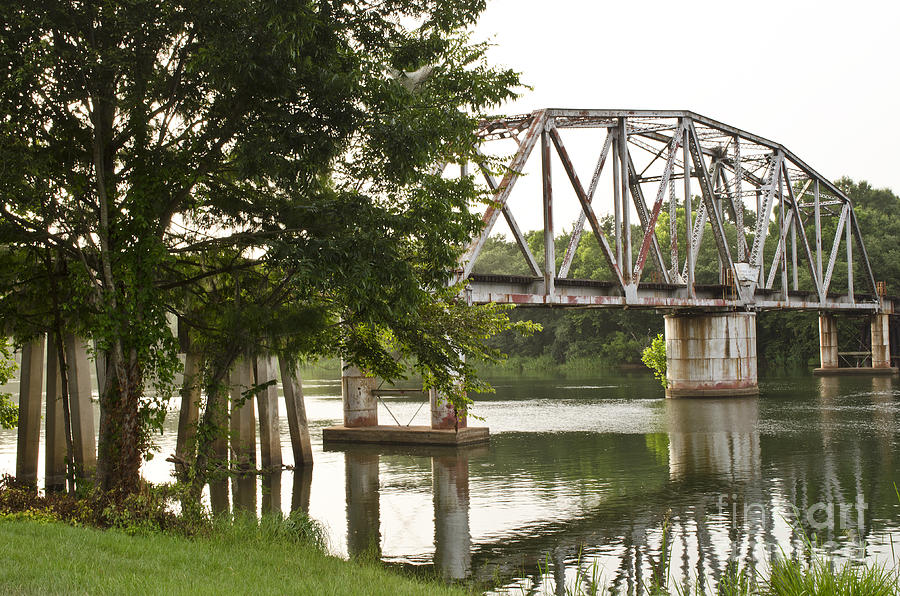 Across Photograph - The Rivers Rails by Debra Johnson