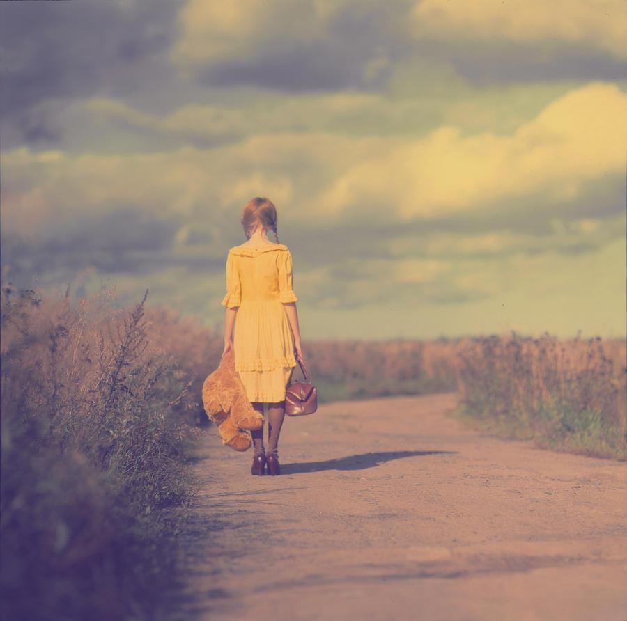 Girl Photograph - The road by Anka Zhuravleva