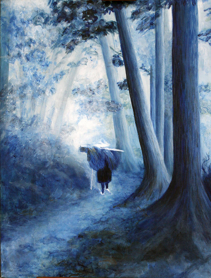 Blue Painting - The Road Home by Donna Walsh