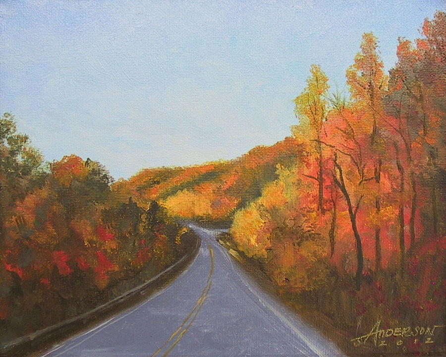 Landscape Painting - The Road Home by Sherri Anderson