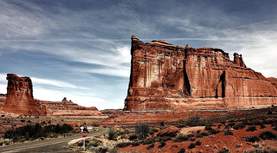Arches Photograph - The Road Through Arches by Benjamin Yeager