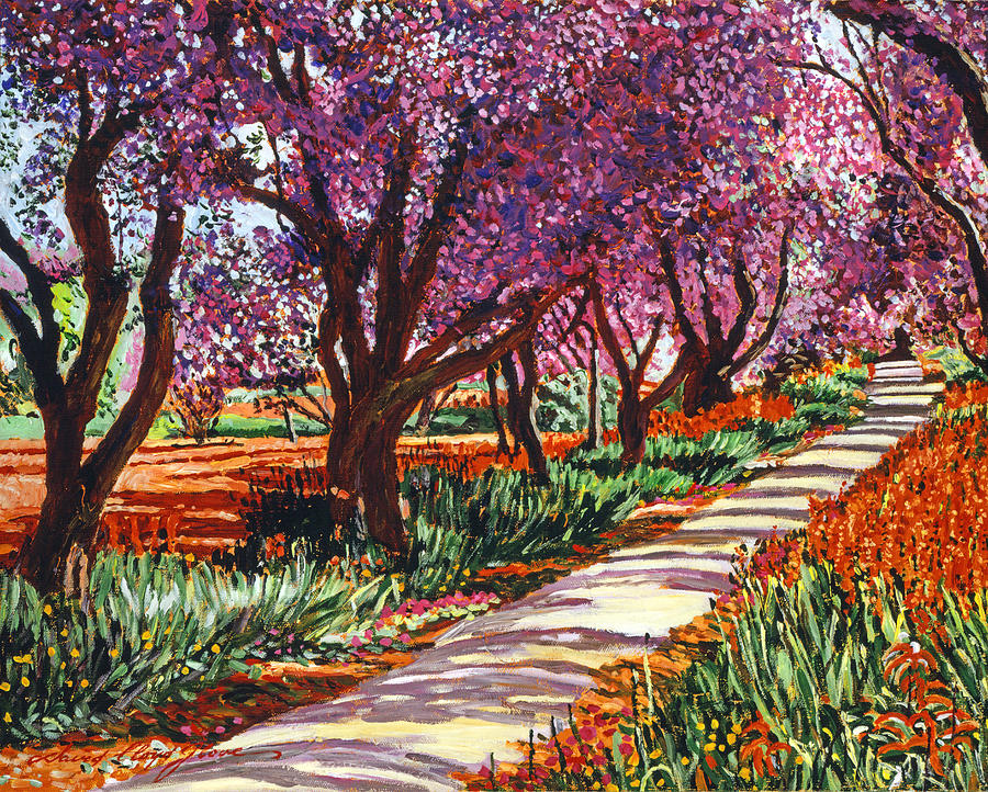 Landscape Painting - The Road To Giverny by David Lloyd Glover