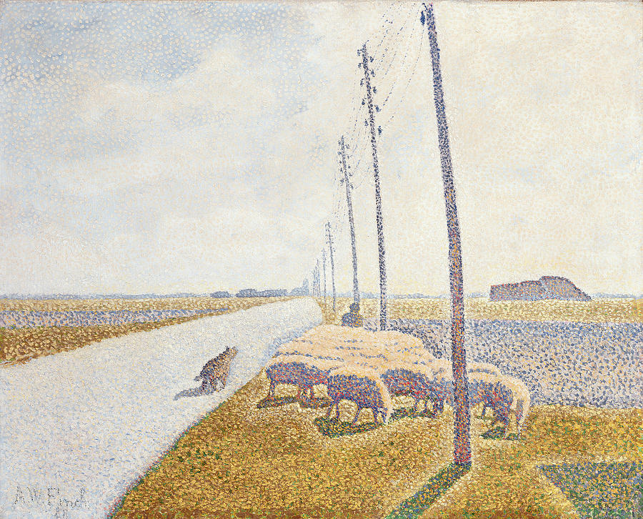 Path Painting - The Road To Nieuport by Willy Finch