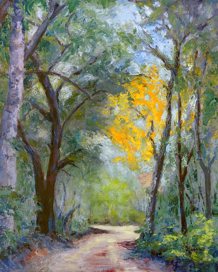 Plein Air Painting - The Road to Shell Redemption by Cecelia Campbell