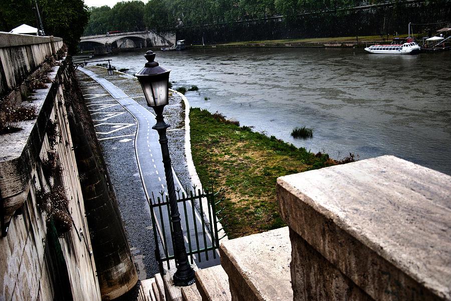 Rain Photograph - The Road To Tevere by Francesco Zappala