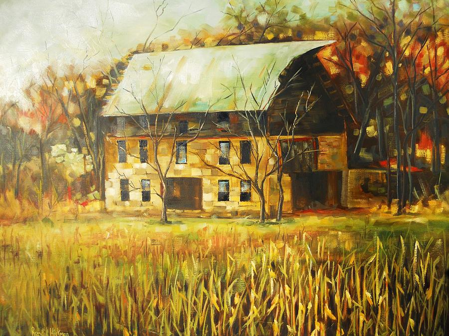 Barn Painting - The Rock Barn by Brandi  Hickman
