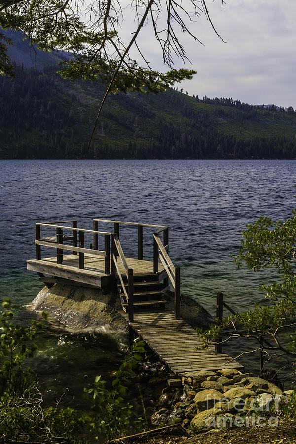 Platform Photograph - The Rock Dock by Mitch Shindelbower