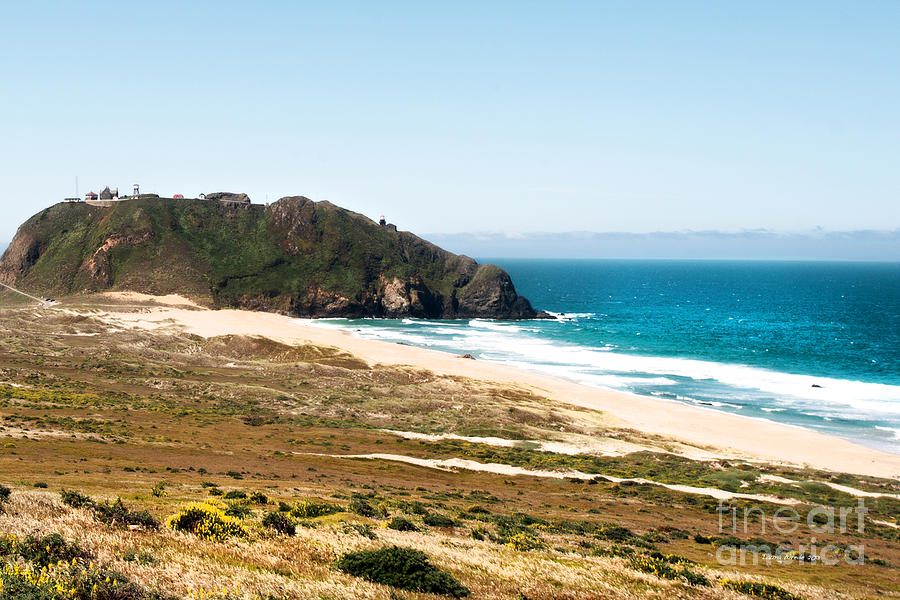 Ocean Scenes Photograph - The Rock Of Piedras Blancas Lighthouse In San Simeon Ca by Artist and Photographer Laura Wrede