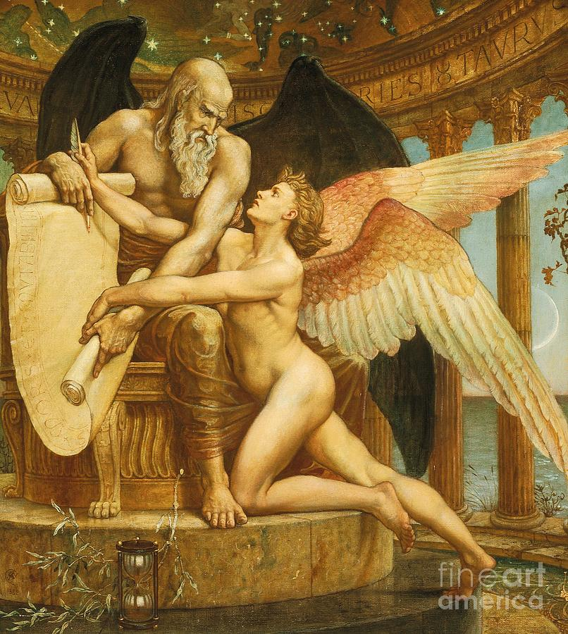 Men Painting - The Roll Of Fate by Walter Crane