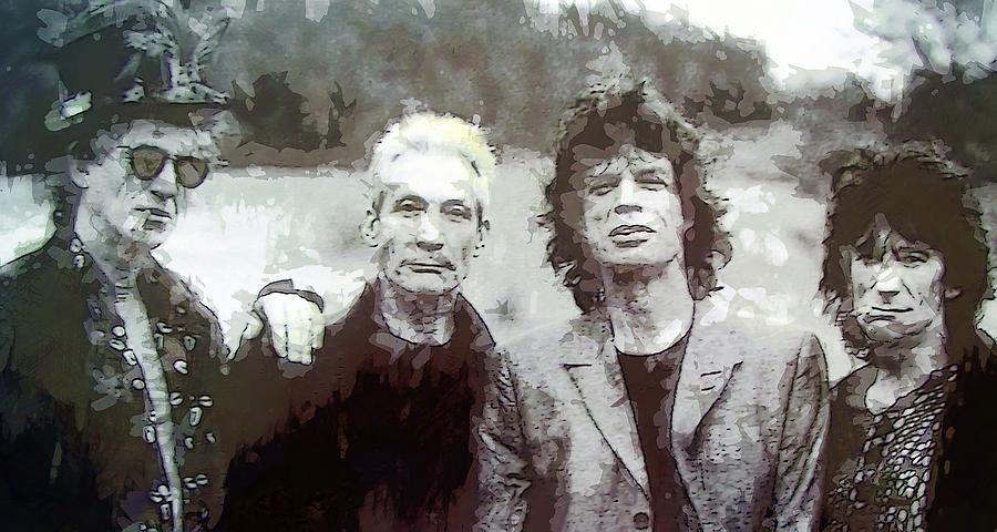 The Rolling Stone Digital Art - The Rolling Stones by Daniel Hagerman