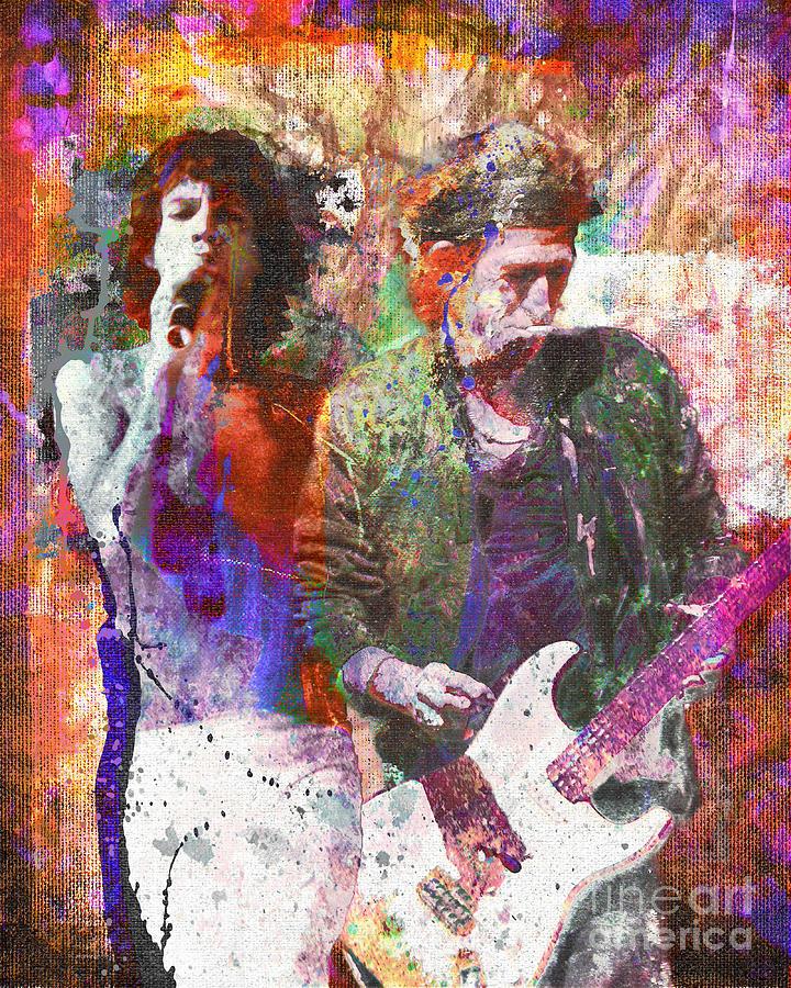 Rock Painting - The Rolling Stones Original Painting Print  by Ryan Rock Artist