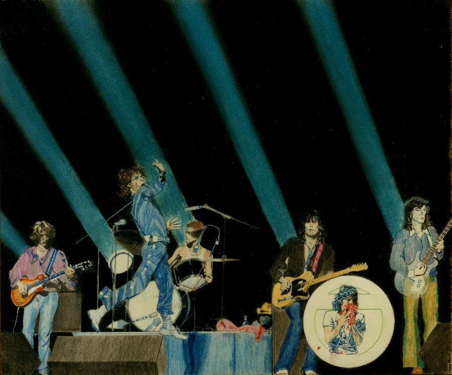 The Rolling Stones - Rip This Joint Pastel by Sean Connolly