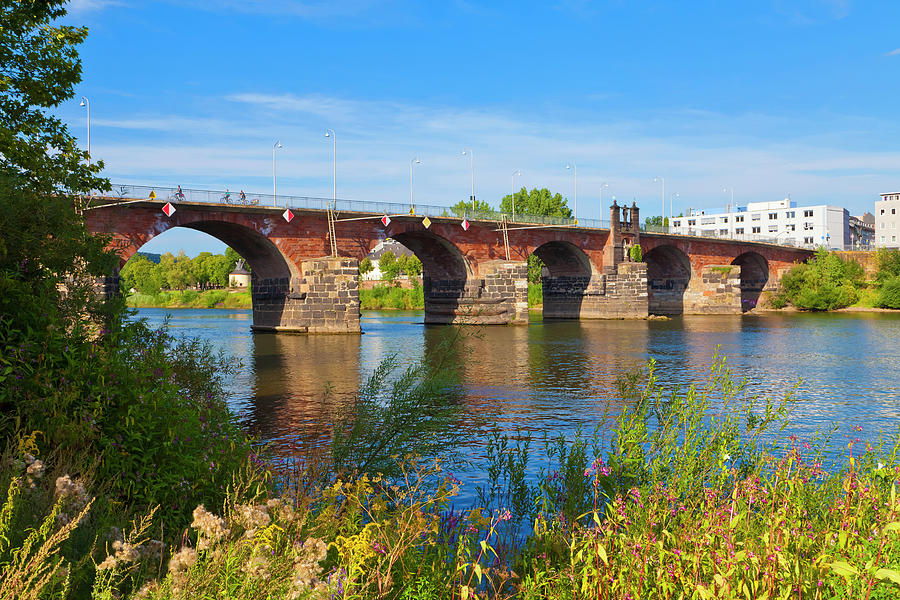 The Roman Bridge Over Mosel River In Photograph by Werner Dieterich