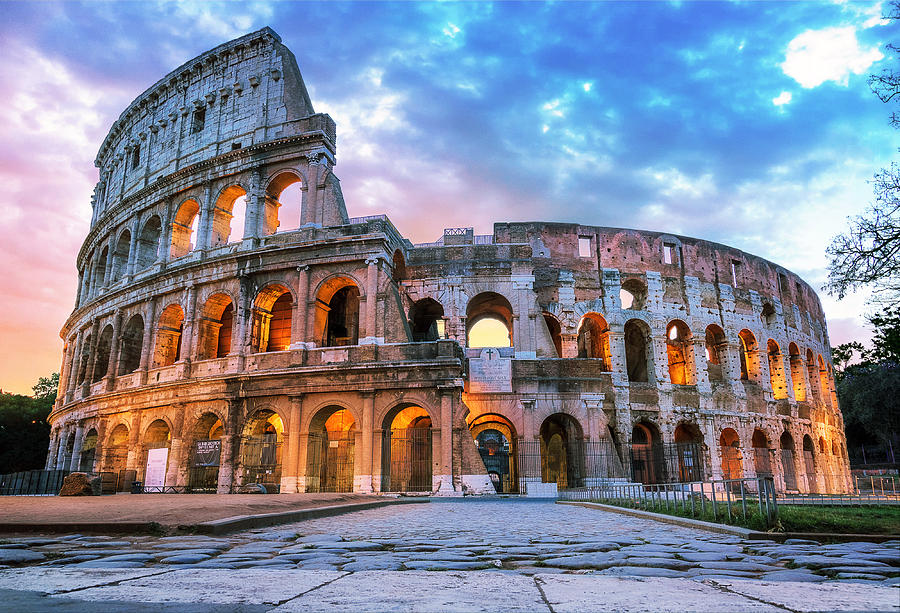 The Roman Coliseum in the early morning Photograph by Robin-Angelo Photography