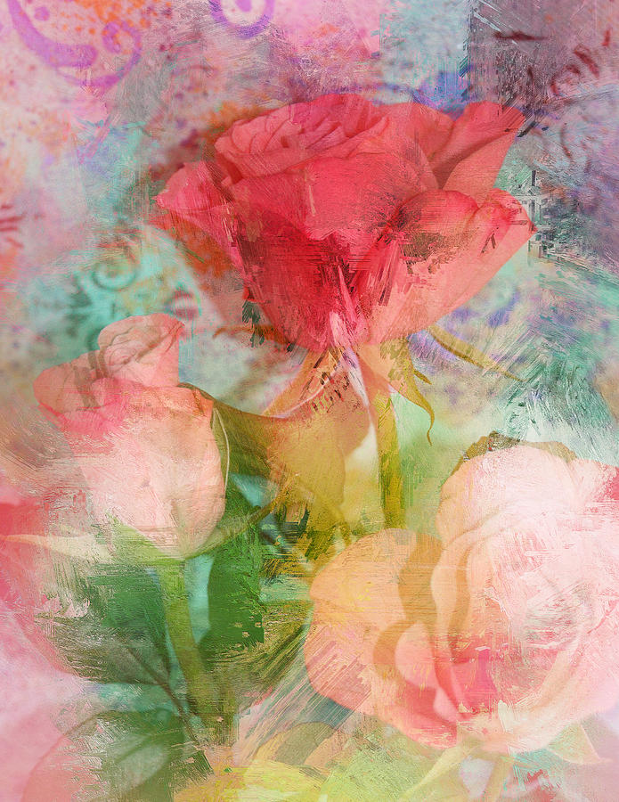 Rose Photograph - The Romance Of Roses by Carla Parris