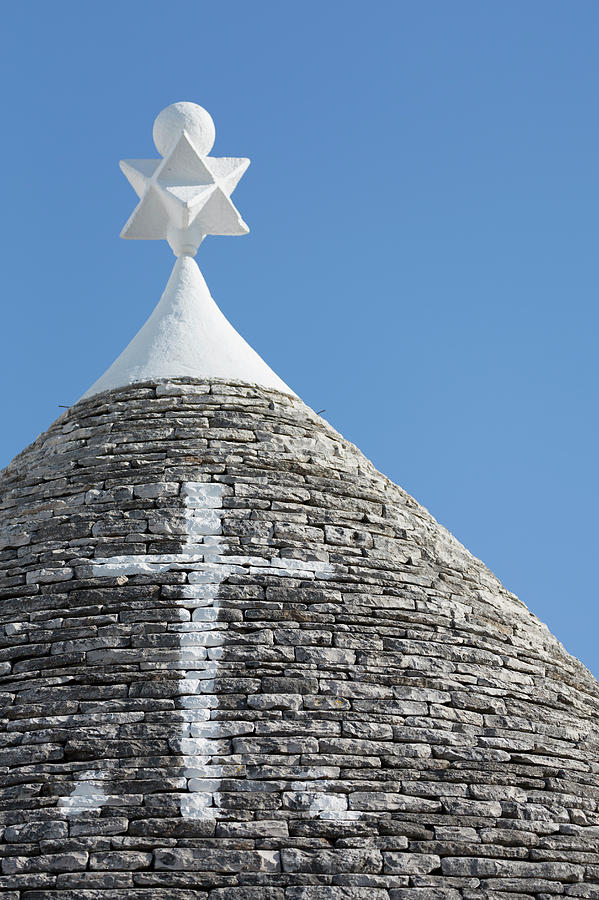 The Roof Of A Trulli In Alberobello Photograph by Martin Child