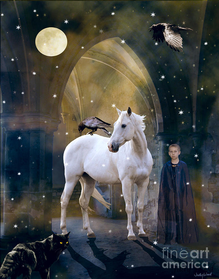 White Horse Digital Art - The Room Remembers by Judy Wood