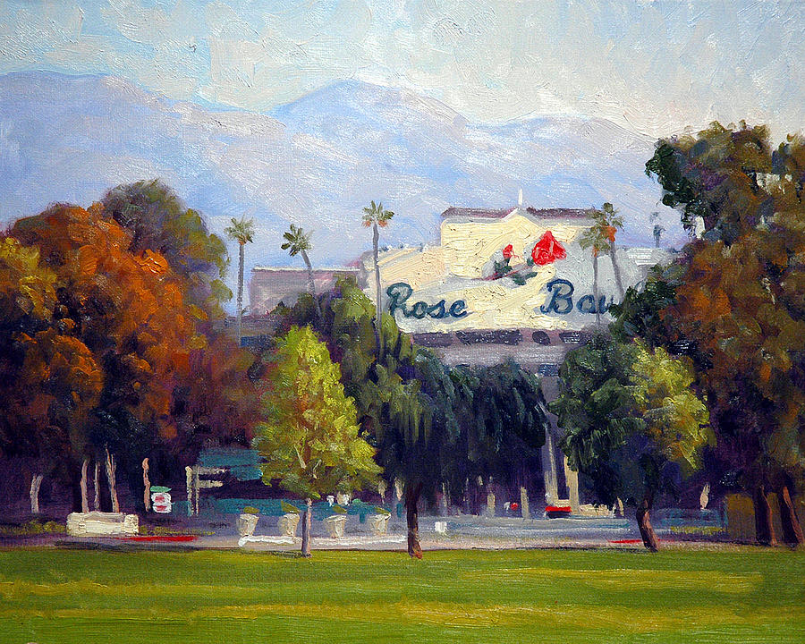 Landscape Painting - The Rose Bowl by Armand Cabrera