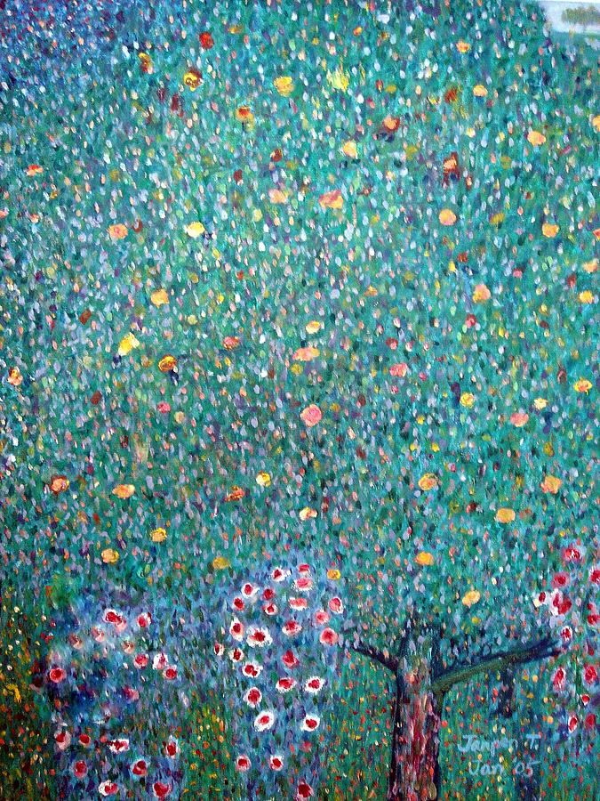 The Rose Bushes  Painting by Janpen Sherwood
