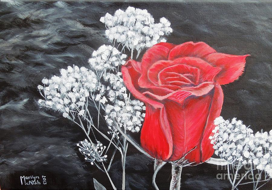 Rose Painting - The Rose by Marilyn  McNish