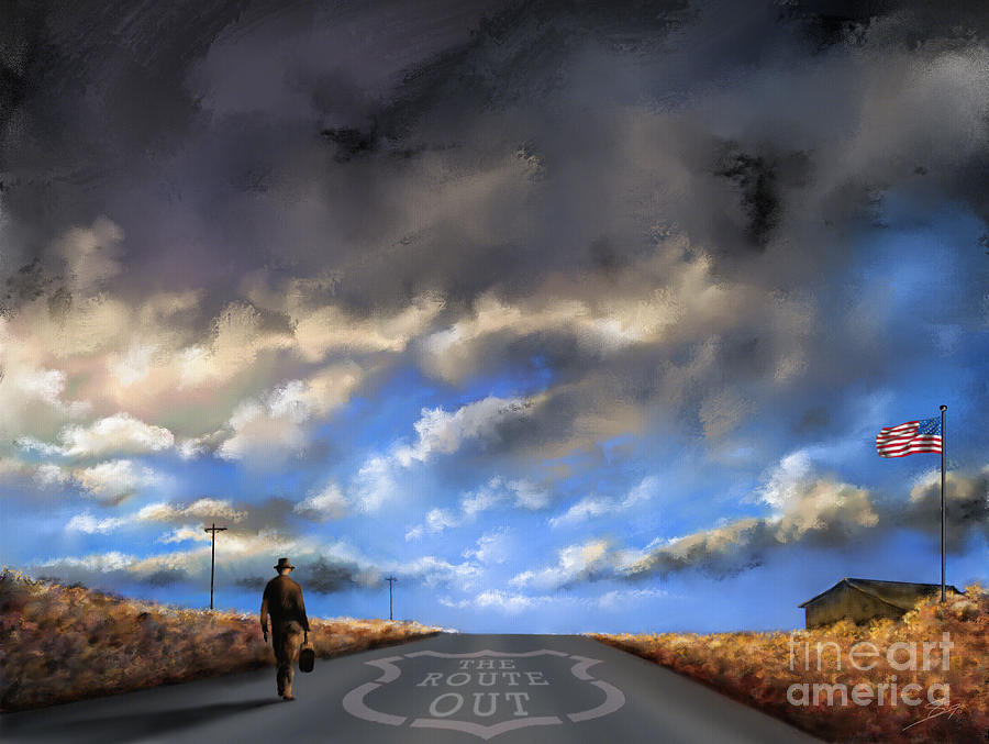 66 Painting - The Route Out by Artist ForYou