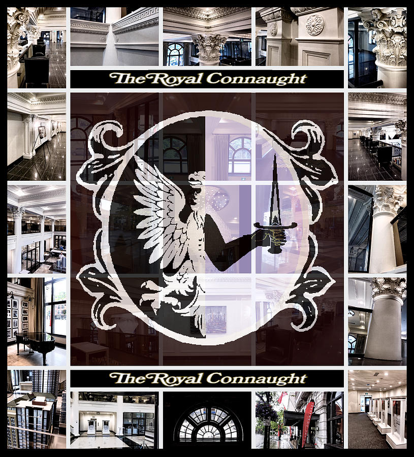 Royal Photograph - The Royal Connaught Crest Photo Collage by Shawn Dall