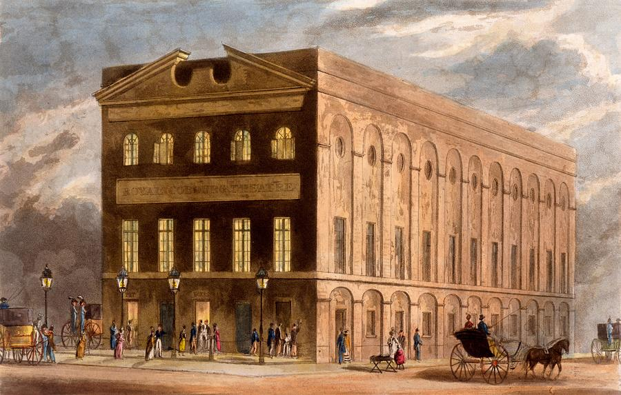 Old Vic Theatre Drawing - The Royal Couborg Theatre, 1826 by Daniel Havell